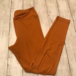 LuLaRoe Solid Mustard OS Leggings